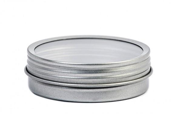 Lata metal redonda tapa en rosca