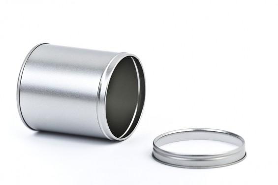 Lata metal redonda tapa en acrilico L