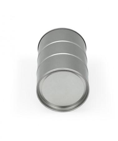 Lata metal mini barril