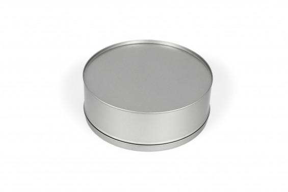 Lata metal redonda grande