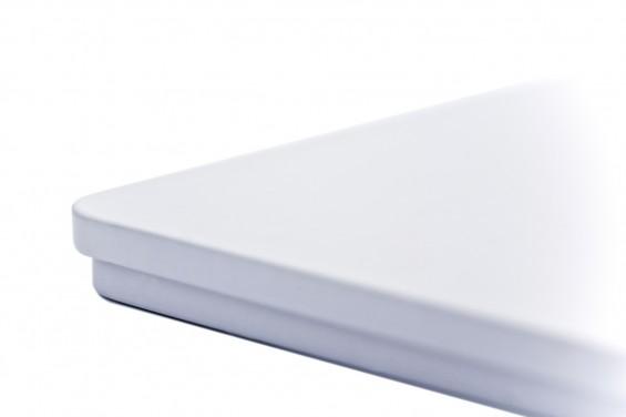 Caja metal con tapa blanca