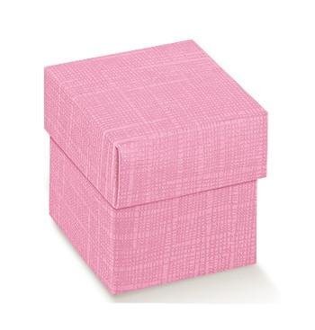 Caja de cartón color rosa