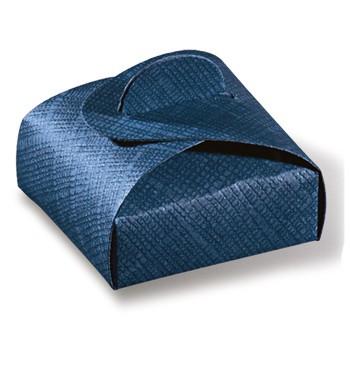 Caja de cartón azul