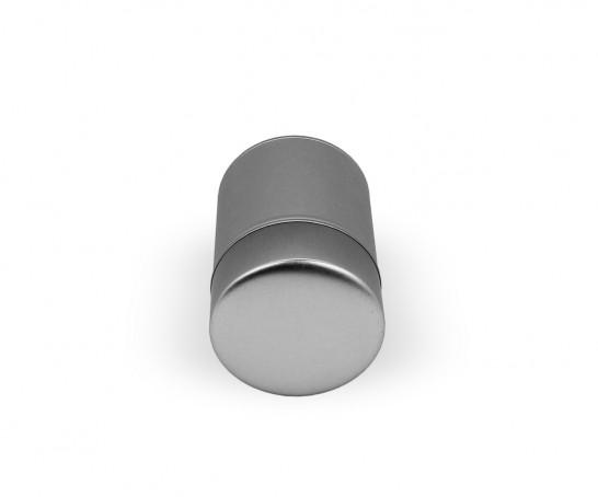 Lata metálica con dos tapas