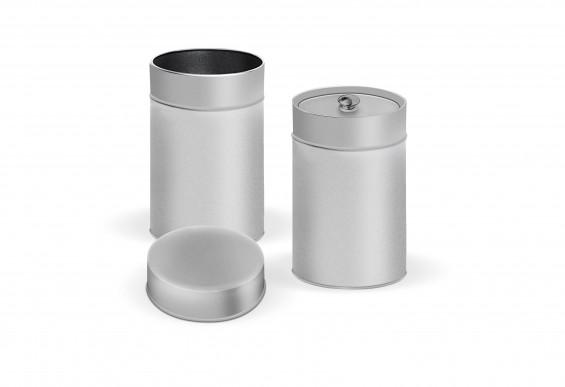 Embalaje de metal redondo 2 tapas