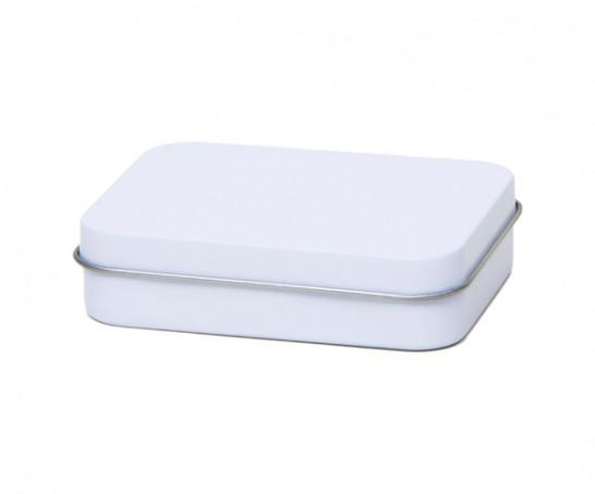 Caja de metal blanca