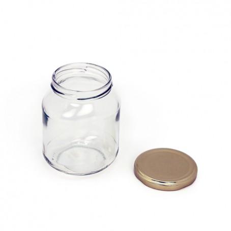 Frasco de vidrio ovalado