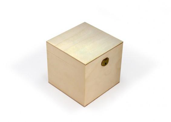 Caja de madera cuadrada