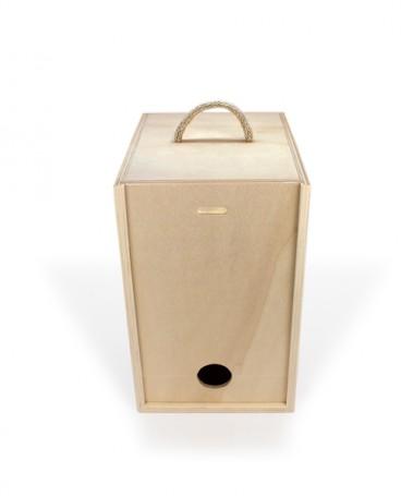 Caja de madera resistente para vino en bolsa