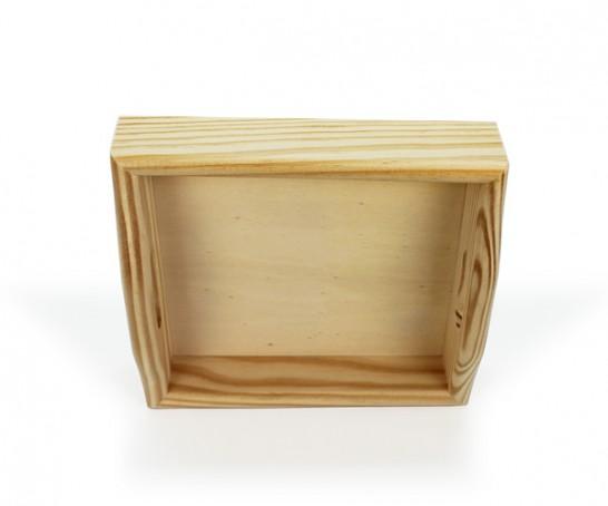 Tablero cuadrado de madera con agarre para el almuerzo