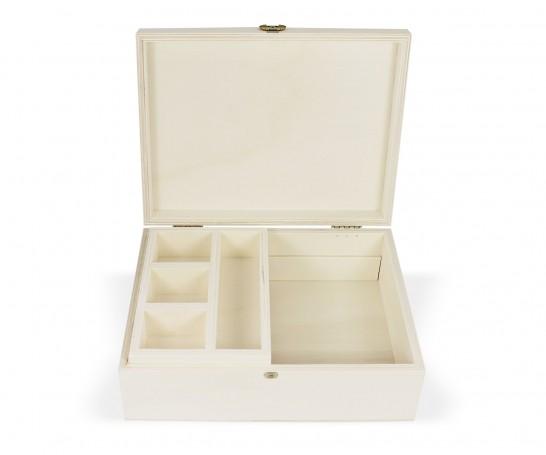 Caja de madera con tablero