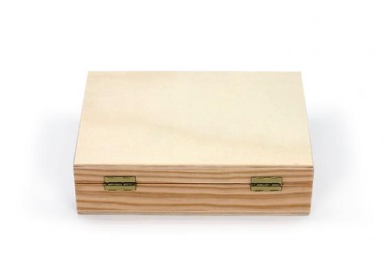 Caja de madera con partición