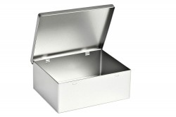 Caja metal rectangular con tapa