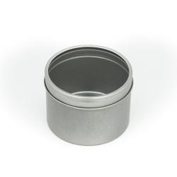Lata metal redonda tapa en acrílico M