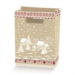 Bolsa de cartón decorada
