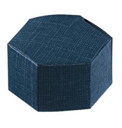 Caja de cartón hexagonal