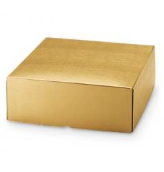 Embalaje de cartón dorado