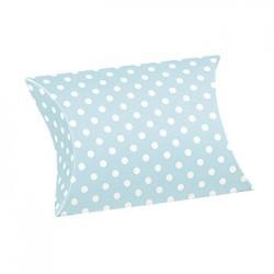 Almohada azul impresa