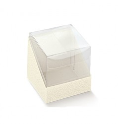 Cubo en PET y base en cartón