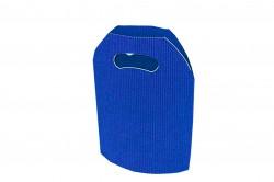 Bolsa cartón ondulado azul