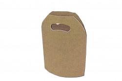 Bolsa cartón ondulado natural