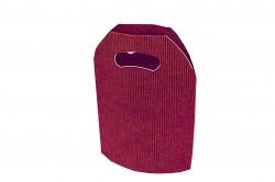 Bolsa cartón ondulado burdeos