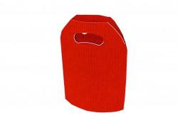 Bolsa cartón ondulado roja