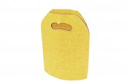 Bolsa cartón ondulado amarilla