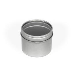 Embalaje de metal con tapa de acrílico