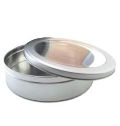 Embalaje metal redondo con ventana
