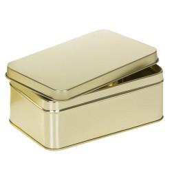 Embalaje de metal dorado