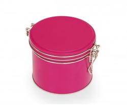 Lata de metal rosa