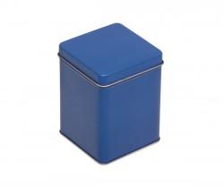 Lata de metal azul