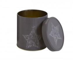 Embalaje de metal navideño