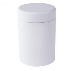 Caja de metal blanco