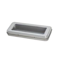 Embalaje de metal con ventana