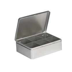 Embalaje de metal con 6 separadores