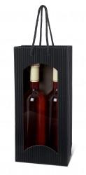 Bolsa negra para dos botellas