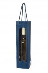 Bolsa azul para una botella