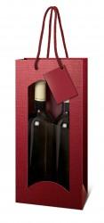 Bolsa burdeos para dos botellas