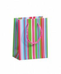 Bolsa con rayas coloridas
