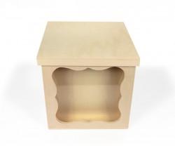 Caja de madera con vidrio