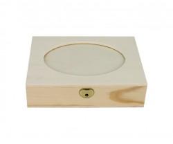 Caja con recorte ovalado